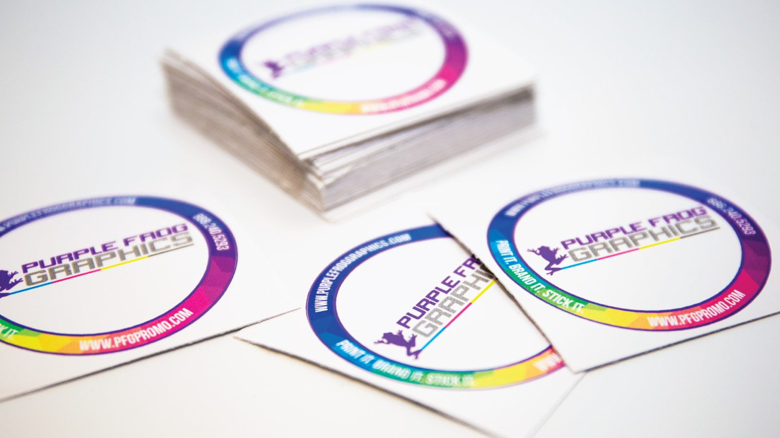 custom die cut stickers by Purple Frog Graphics