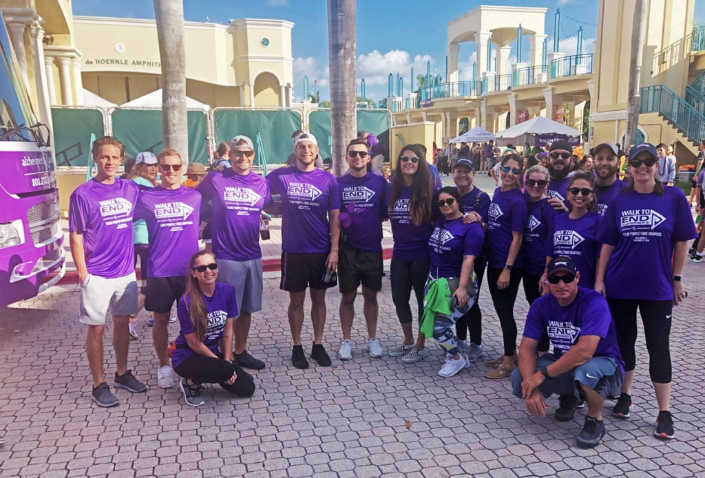 Purple Frog Graphic team giving back